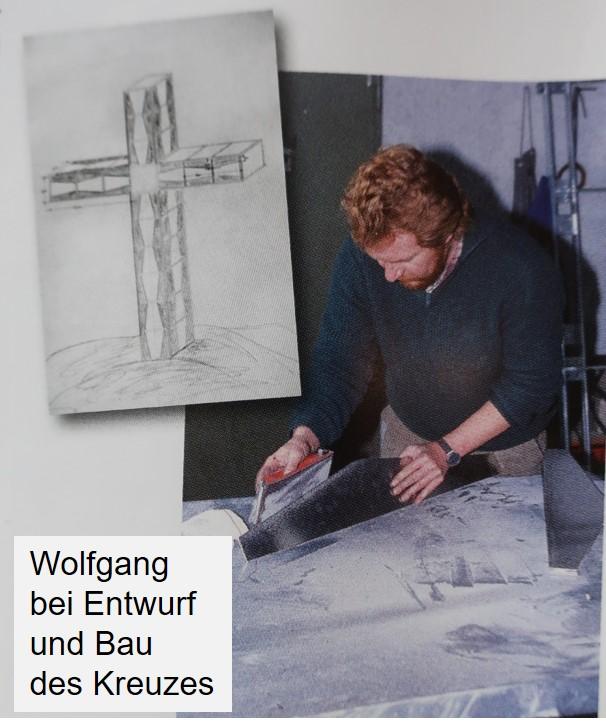 Wolfgang beim Entwurf und Bau des Gipfelkreuzes für die Westliche Floitenspitze in den Zillertaler Alpen
